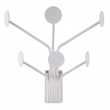 Dots 6 Coat Hooks - White