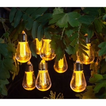 Edison Style Bulb Warm White LED String Lights - Battery Operated