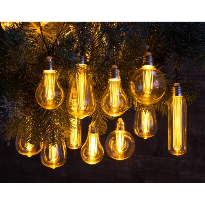 Battery Operated Edison Bulb Lamp: Edison Style Bulb Warm White LED String Lights