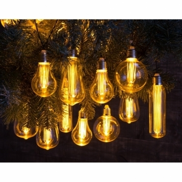 Edison Style Bulb Warm White LED String Lights - Mains Operated
