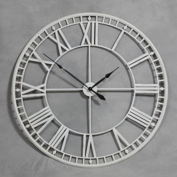 extra large wall clocks contemporary uk india discoveries antique cream metal skeleton clock image