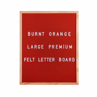 Felt Letter Board Large - Burnt Orange