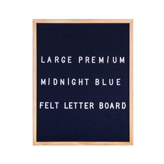 Hurn & Hurn Discoveries Felt Letter Board Large - Midnight Blue