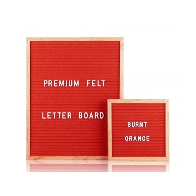 Felt Letter Board Small - Burnt Orange