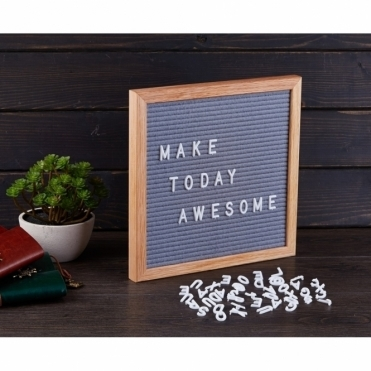Felt Letter Board Small - Grey