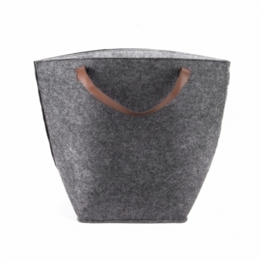 Felt Storage Basket / Bag / Hamper - Dark Grey