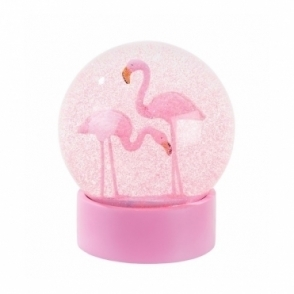 Hurn & Hurn Discoveries Flamingo Glitter Snow Globe