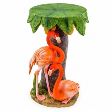 Flamingos & Palm Tree - Side Table