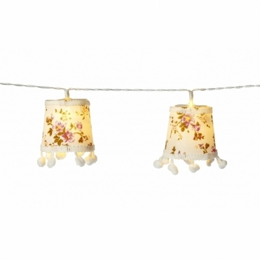 Floral Lampshade Garland LED String Lights