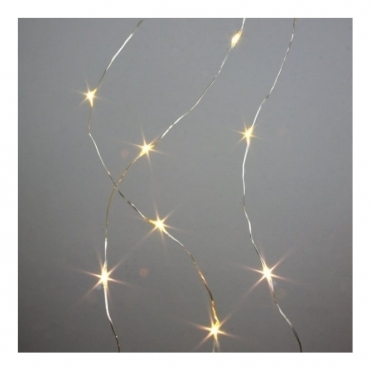 Galaxy Silver Warm White LED Light Chain - Indoor/Outdoor