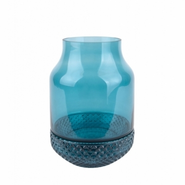 Gem Glass Vase & Bowl - Petrol Blue