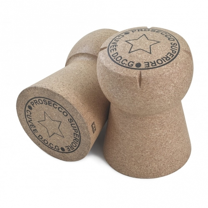 Hurn & Hurn Discoveries Giant Prosecco Cork Stool 'Prosecco Superiore Cuvee D.O.C.G'