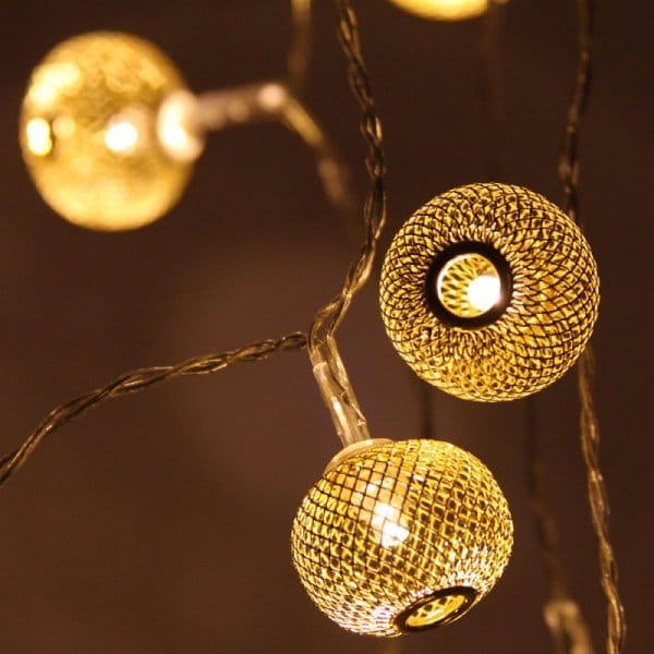 Gold Lanterns LED String Fairy Lights Chain Hurn and Hurn