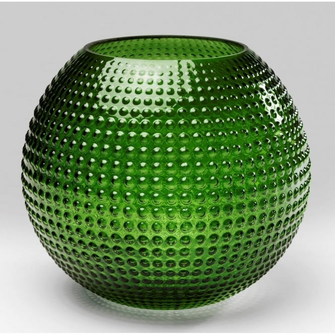 Hurn & Hurn Discoveries Green Glass Vase