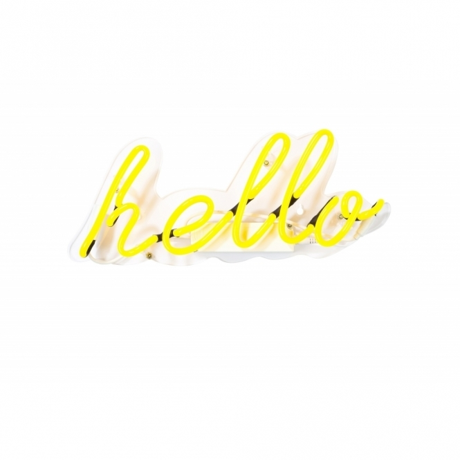 Hurn & Hurn Discoveries Hello Neon Light Sign