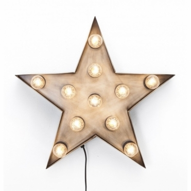 Large Illuminated Fairground Star Light Vintage Style