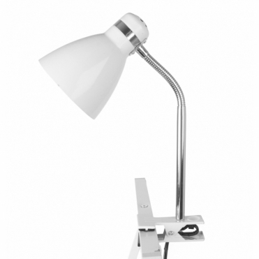 Leitmotiv Clip On Desk Lamp - White