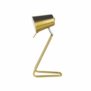Leitmotiv Table Lamp Z Metal Satin Brass Desk Light