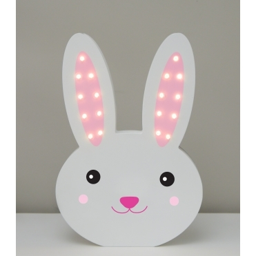 Light Up LED Night Light Lamp - Bunny Rabbit