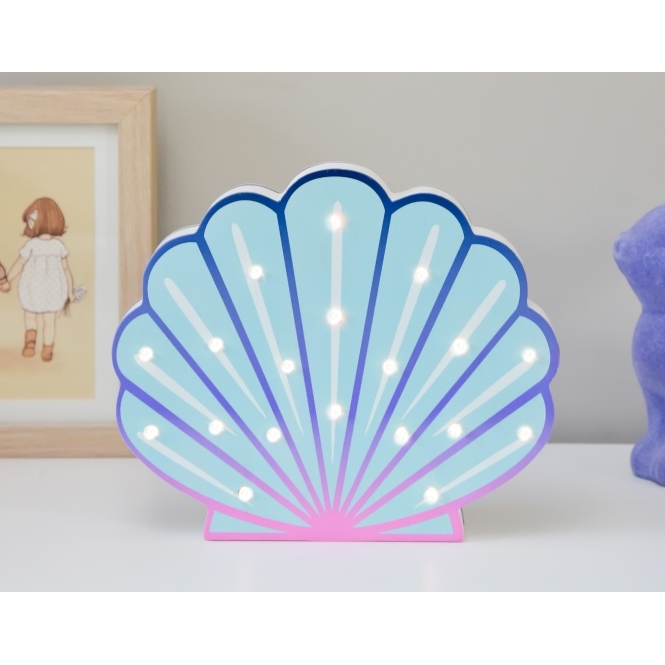Light Up LED Night Light Lamp - Shell
