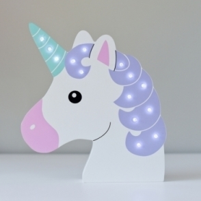Hurn & Hurn Discoveries Light Up LED Night Light Lamp - Unicorn