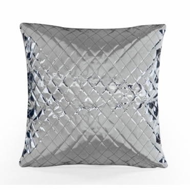 Metallic Gold & Silver Reversible Cushion