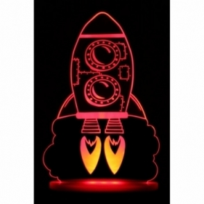 My Dream Rocket Light Colour Changing Remote Controlled LED Night Light