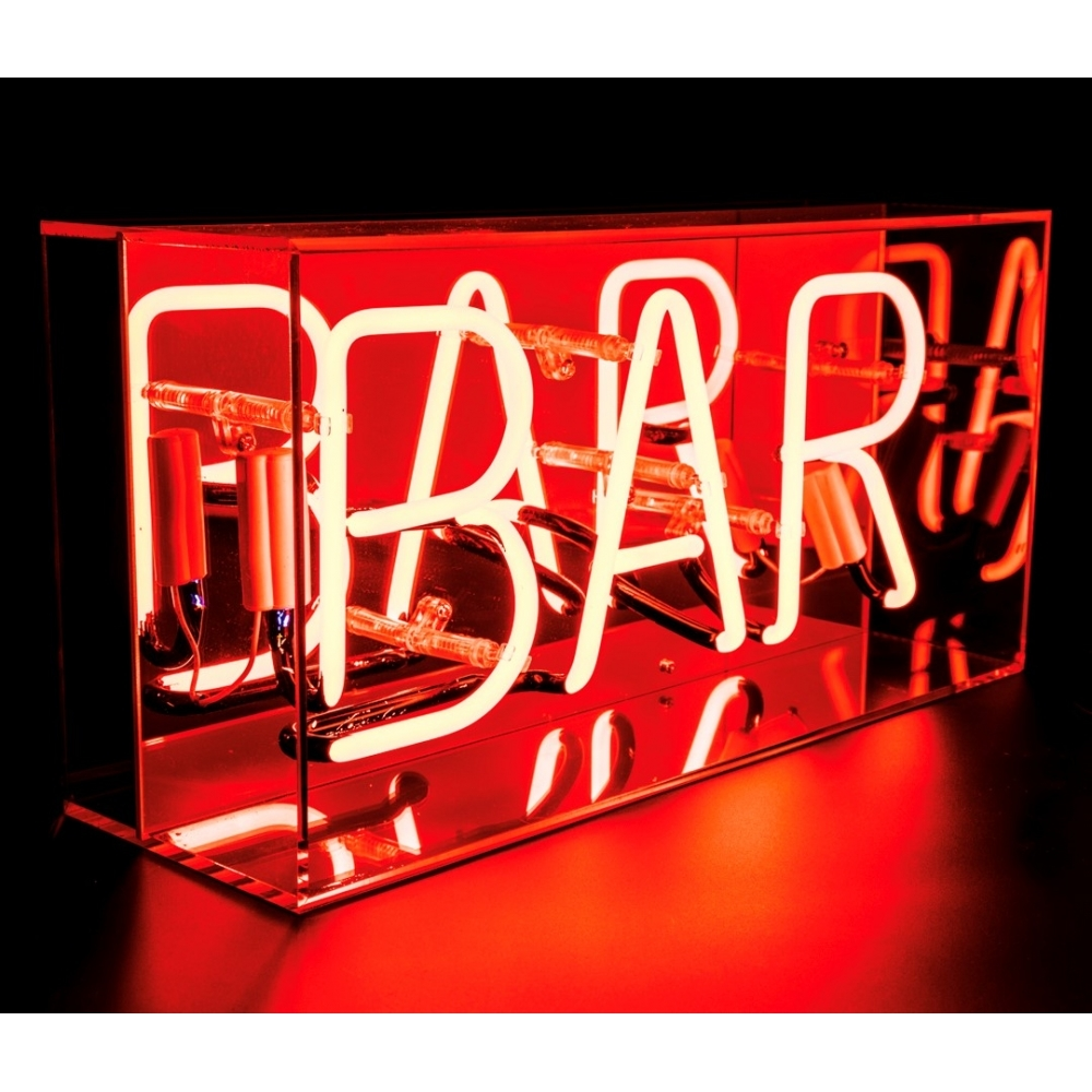 neon bar sign acrylic box light hurn and hurn. Black Bedroom Furniture Sets. Home Design Ideas