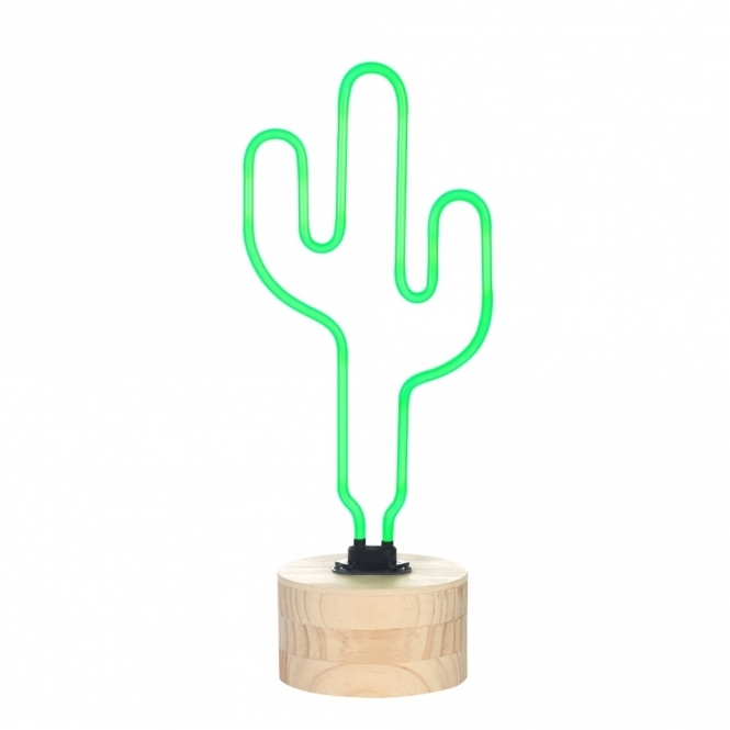 Hurn & Hurn Discoveries Neon Cactus Table Lamp