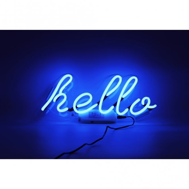 Hurn & Hurn Discoveries Neon Hello Wall Light
