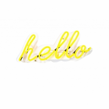Neon Hello Wall Light - Yellow