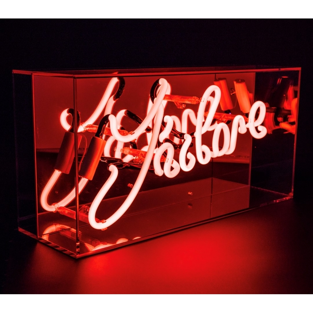 neon j 39 adore sign acrylic box light hurn and hurn. Black Bedroom Furniture Sets. Home Design Ideas