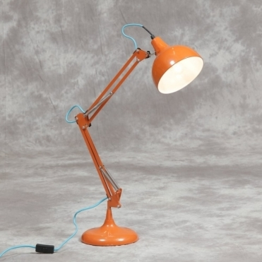 Orange Angled Desk Table Lamp