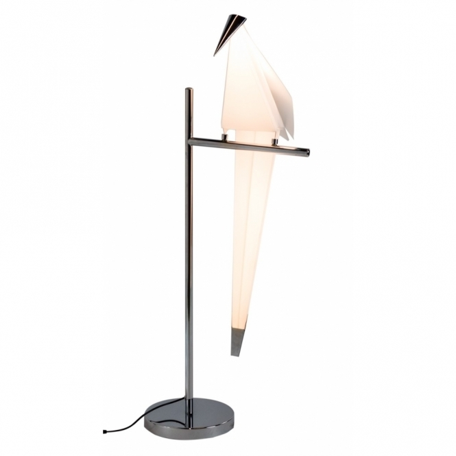 Hurn & Hurn Discoveries Perching Origami Bird Table Lamp - Chrome
