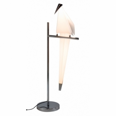 Perching Origami Bird Table Lamp - Chrome