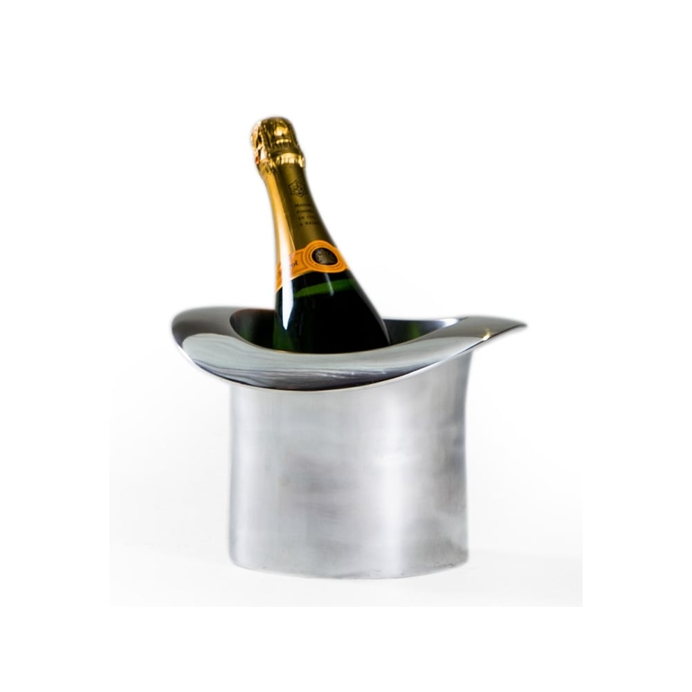Superb Aluminium Top Hat Ice Bucket Champagne Cooler Awesome Design