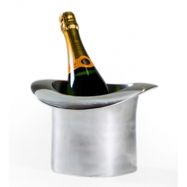 Polished Aluminium Top Hat Ice Bucket / Champagne Cooler