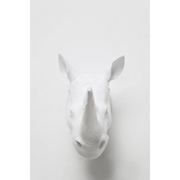 rhino head wall decor white hurn and hurn. Black Bedroom Furniture Sets. Home Design Ideas
