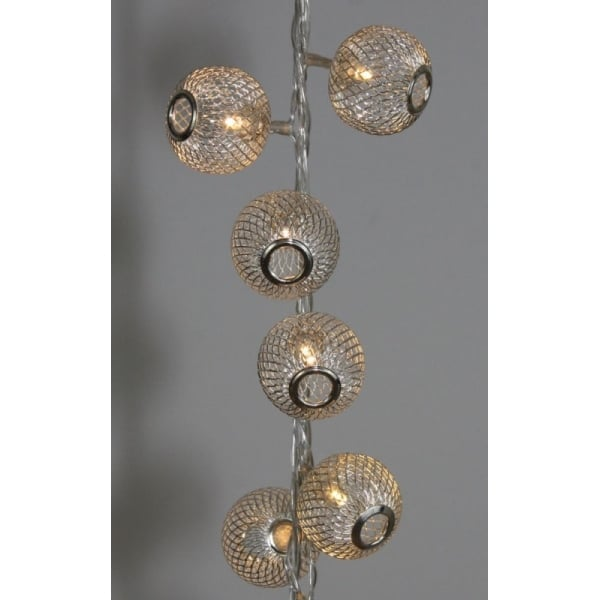 Lantern String Lights Battery Operated : Silver Lanterns Warm White String Lights Battery Operated