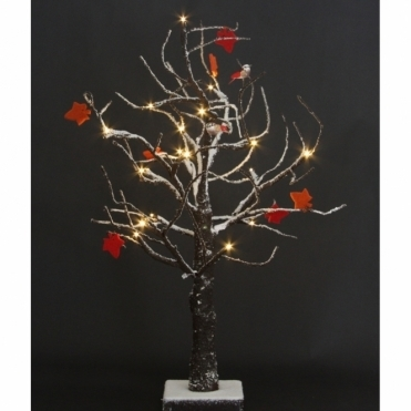 Snow Tree Decorative LED Ornament Freestanding