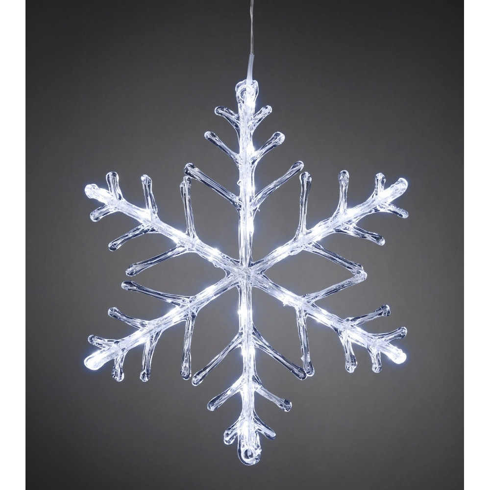 Exceptional Snowflake Outdoor Christmas Light 40cm   White LEDs