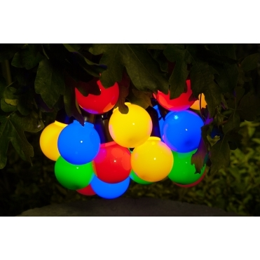 Solar Festoon LED String Lights - Multi Coloured