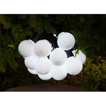 Solar Festoon LED String Lights - White