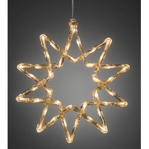 Hurn & Hurn Discoveries Star 38cm with 40 Warm White LEDs - Mains Powered