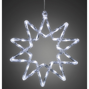 Star 38cm with 40 White LEDs - Mains Powered