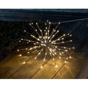 Hurn & Hurn Discoveries Starburst LED Ball of Twigs Light Small - Silver