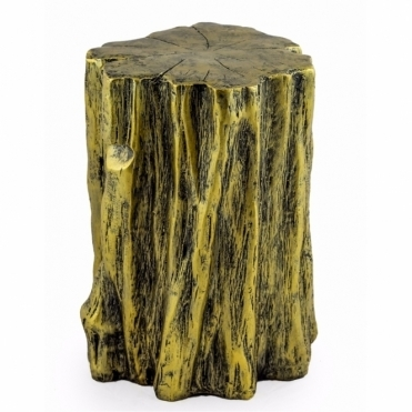 Tree Trunk Stool / Pedestal - Antiqued Gold