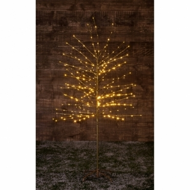 Twinkling Twig Tree 1.8m Gold - 300 Warm White LED Lights
