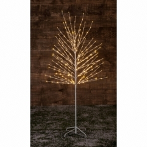 Hurn & Hurn Discoveries Twinkling Twig Tree 1.8m White - 300 Warm White LED Lights