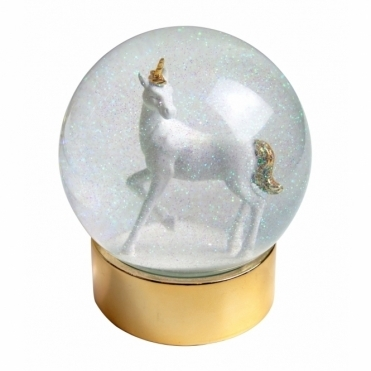 Unicorn Glitter Snow Globe